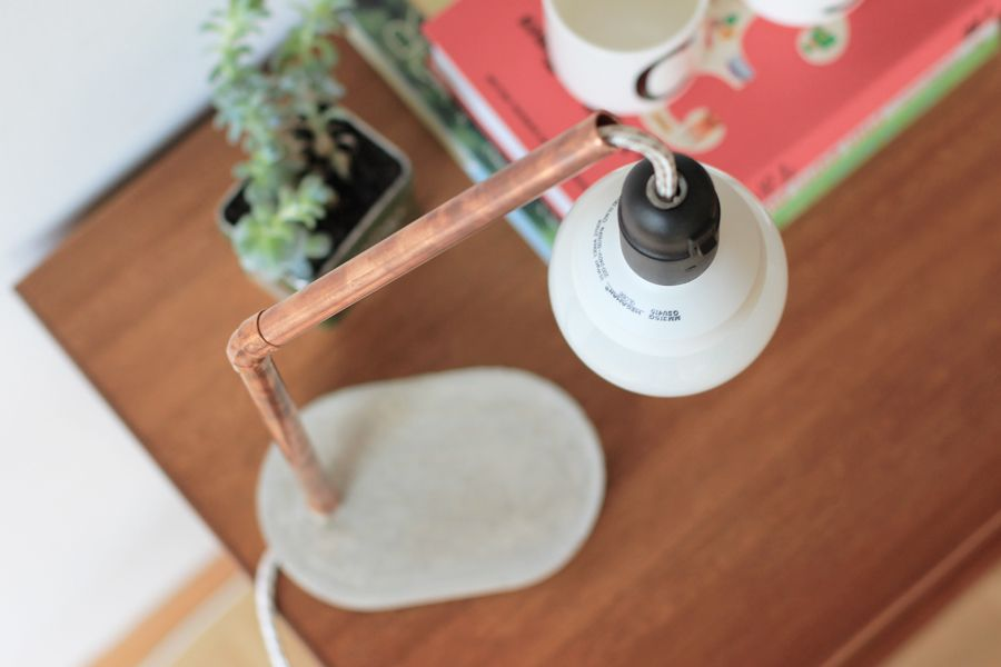 Copper concrete lamp DIY   LOOK WHAT I MADE ...