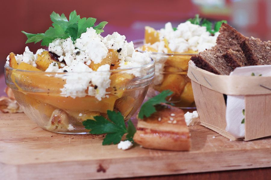 Honey roasted pumpkin with feta | LOOK WHAT I MADE ...