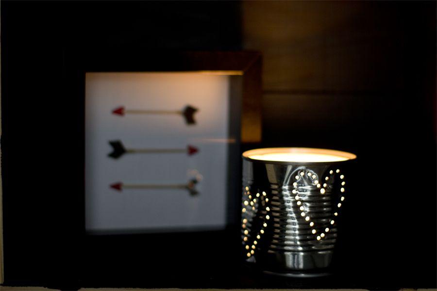 DIY tin lantern Valentine's Day craft ideas