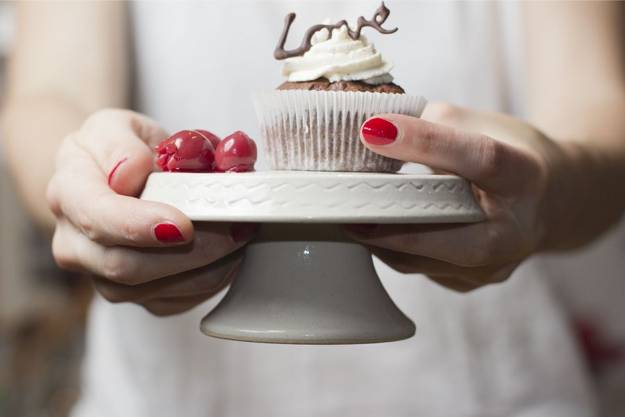 cherry-chocolate-cupcake-serving
