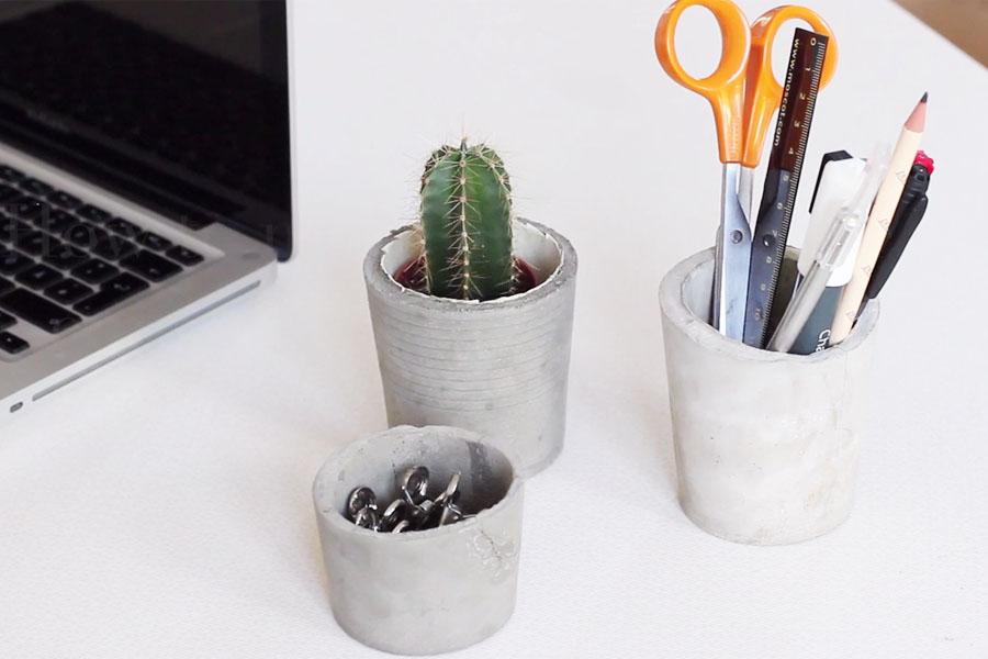 Skillshare class: DIY concrete cup