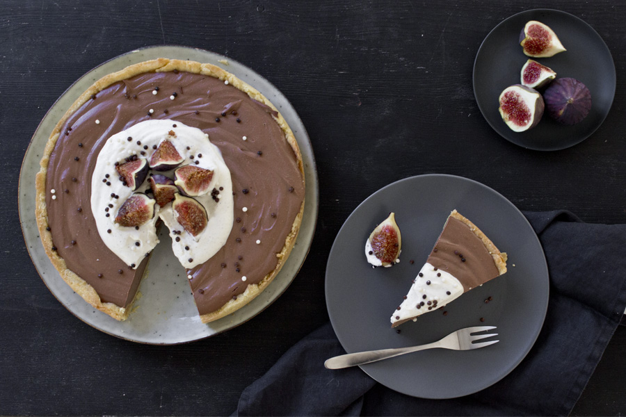 Nougat cream cheese tart with fresh figs | LOOK WHAT I MADE ...