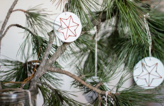 DIY embroidered clay Christmas hangers | LOOK WHAT I MADE ...