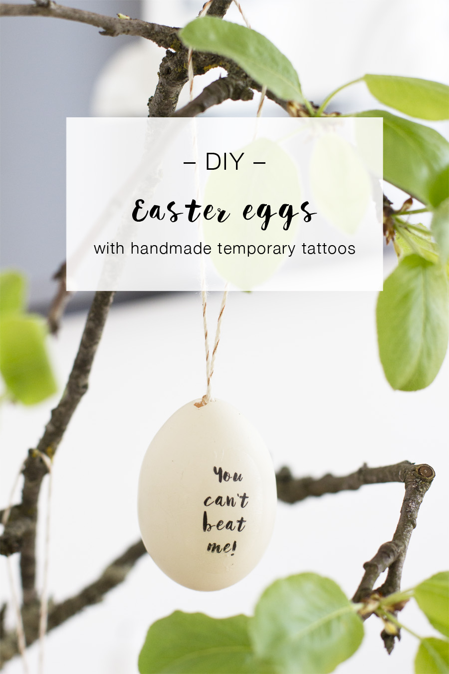 DIY Easter eggs with handmade temporary tattoos | LOOK WHAT I MADE ...