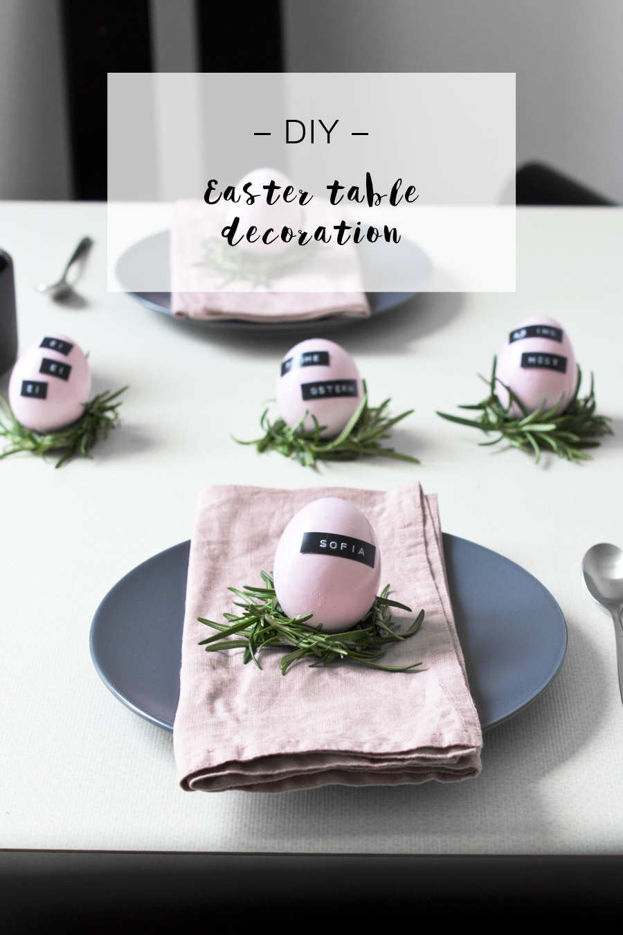 DIY Easter table decoration idea   LOOK WHAT I MADE ...