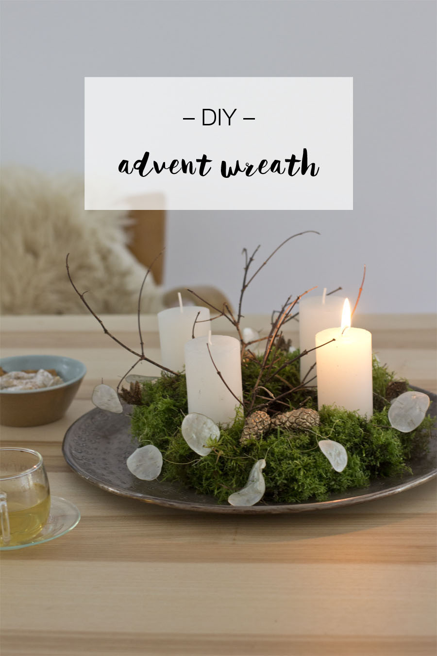 DIY advent wreath | LOOK WHAT I MADE ...