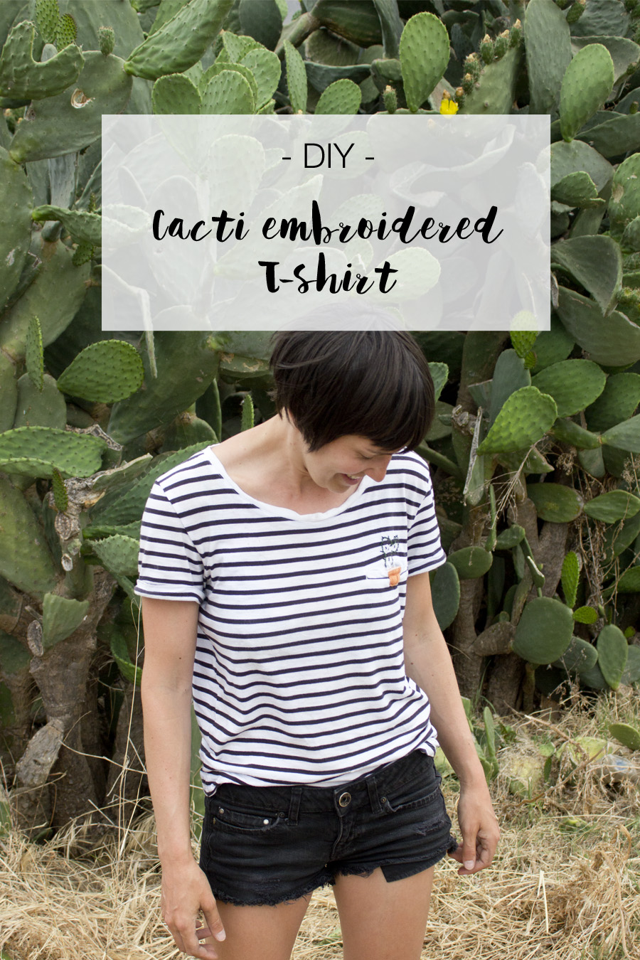DIY cactus embroidered T-shirt | LOOK WHAT I MADE ...