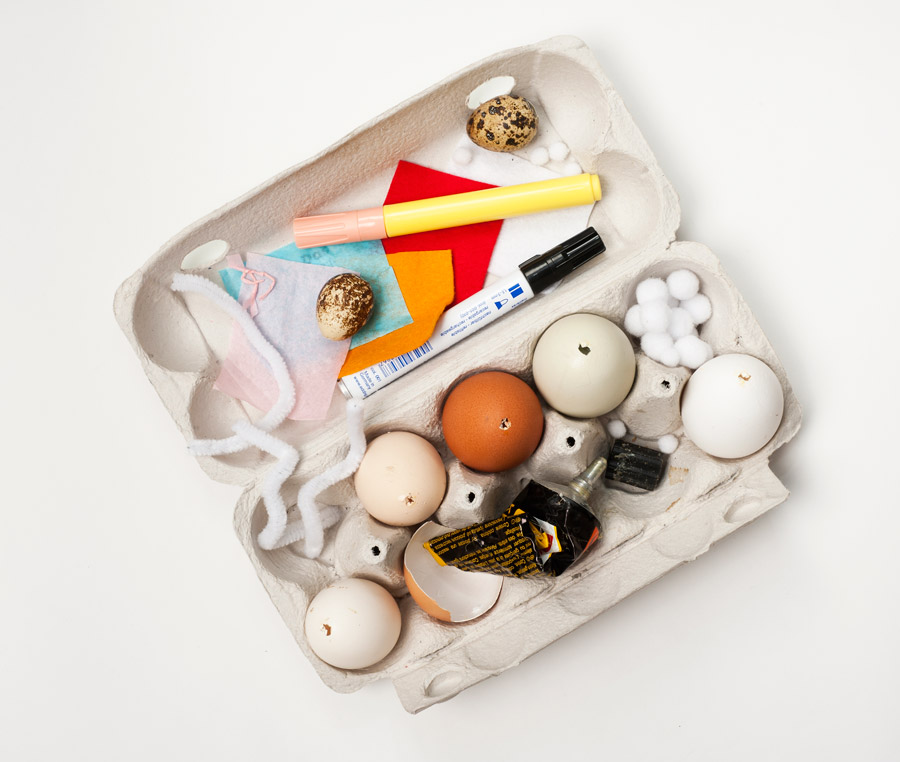 DIY egg animals supplies