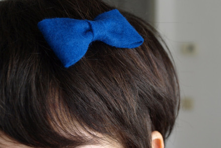 easy craft hair felt bow