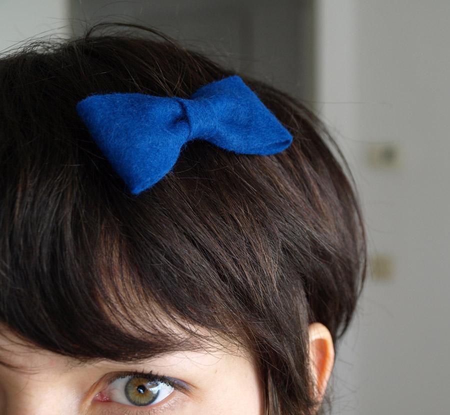 easy craft hair felt bow