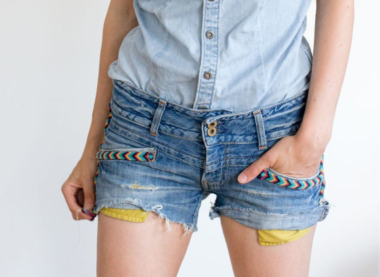 DIY indian inspired cut-off jeans short | LOOK WHAT I MADE ...
