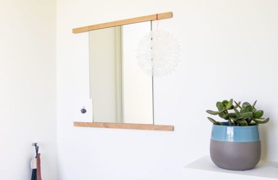DIY for your home: Minimalistic bathroom mirror