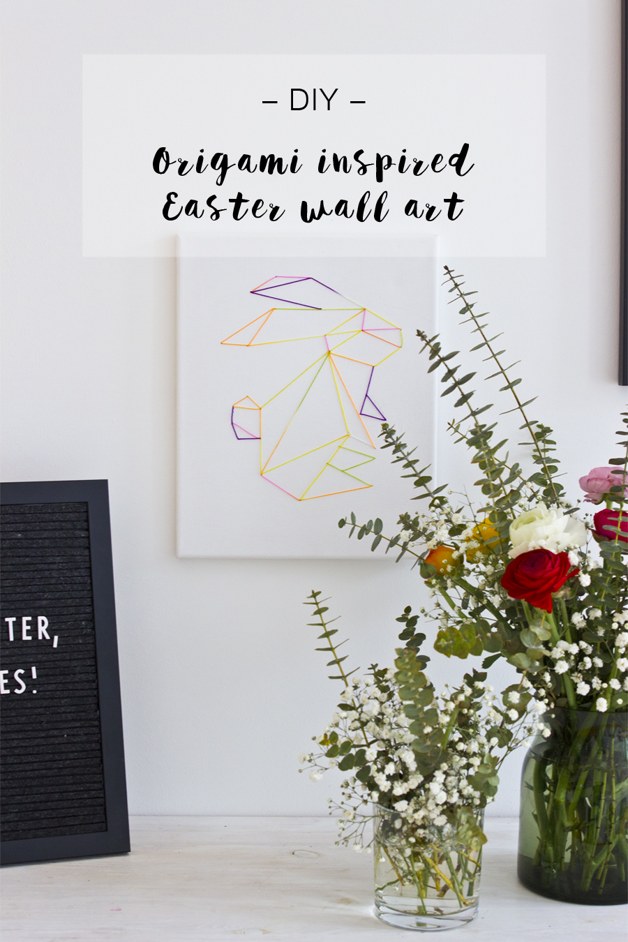 DIY Easter bunny wall art | LOOK WHAT I MADE ...