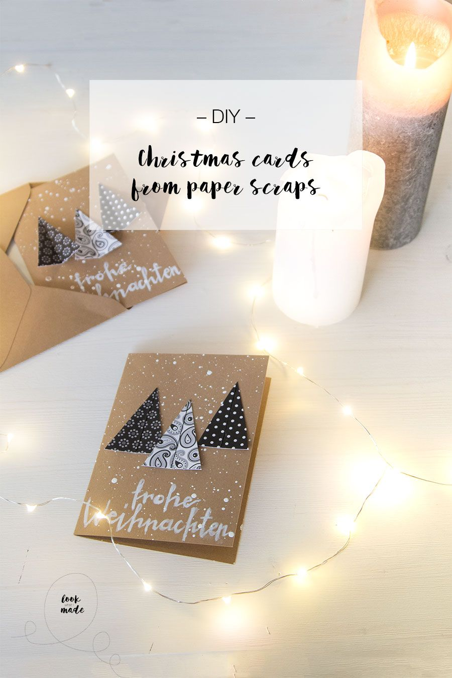 DIY Christmas card from paper scraps   LOOK WHAT I MADE ...