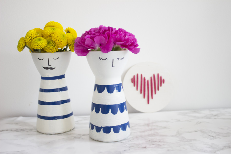 DIY flower vases with faces | LOOK WHAT I MADE ...
