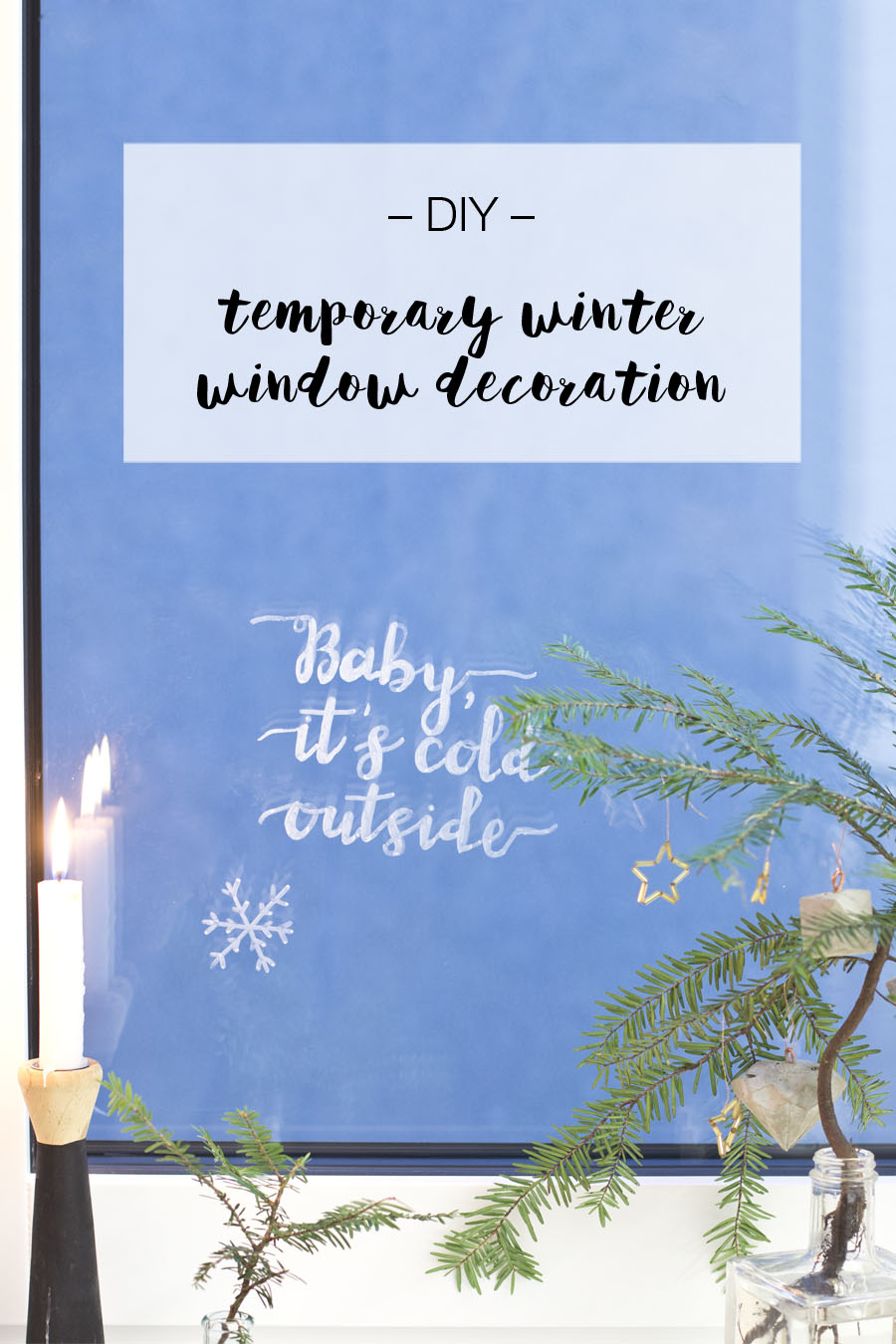 Temporary winter window decoration   LOOK WHA TI MADE ...