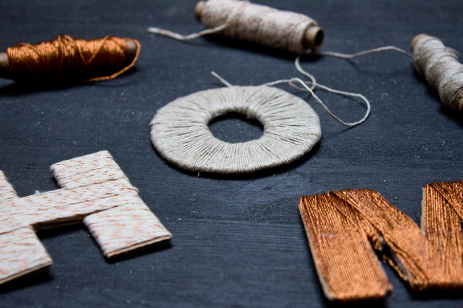 DIY thread letters how to tutorial