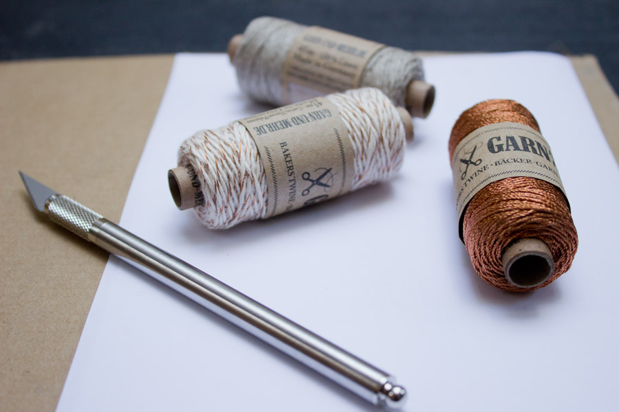 DIY thread letters supplies