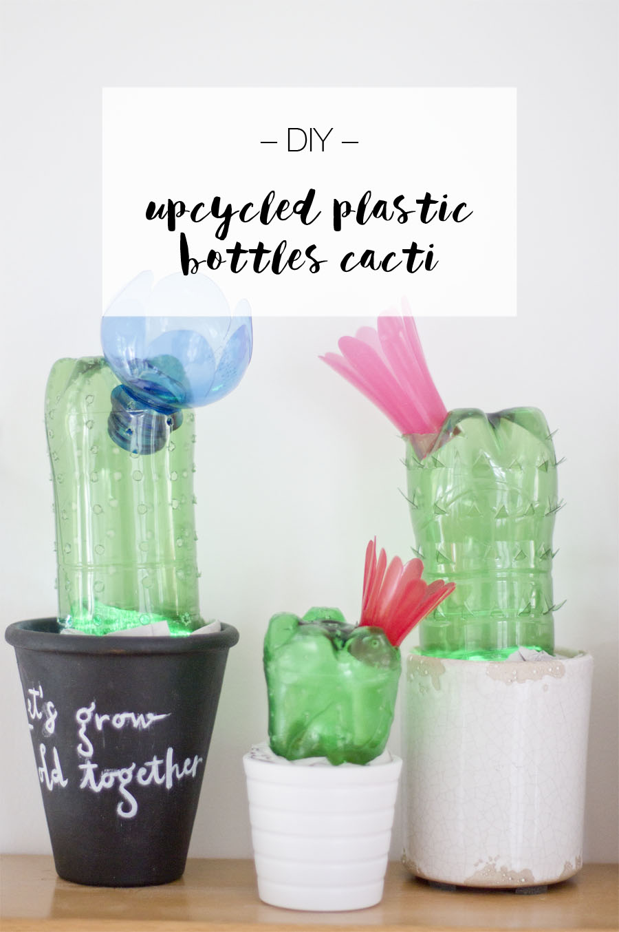 DIY upcycled plastic bottles cactus lights | LOOK WHAT I MADE ...