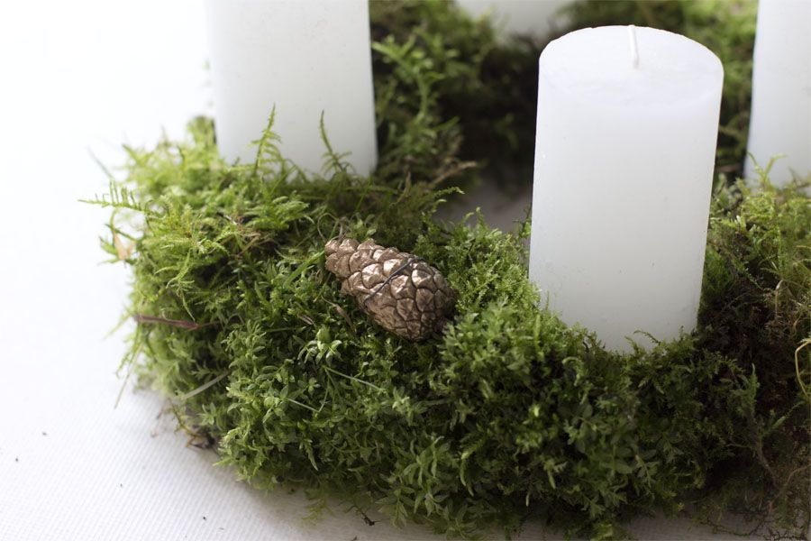 DIY advent wreath with moss | LOOK WHAT I MADE ...