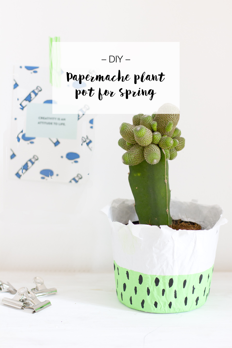 DIY paper mache planter | LOOK WHAT I MADE ...