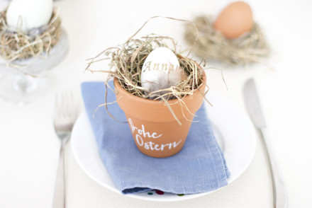 DIY Easter nest place card | LOOK WHAT I MADE ...