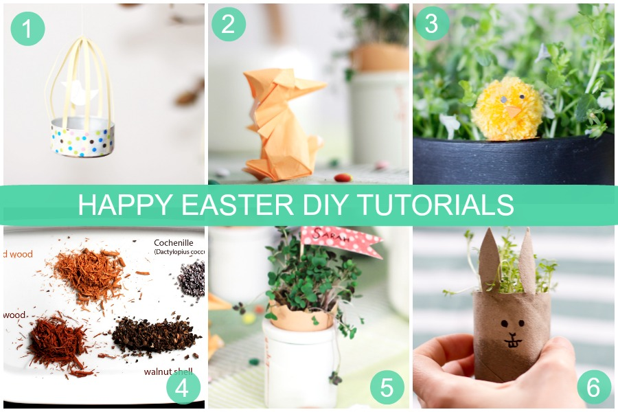 Looking for some Easter crafting projects? Find a collection here from an Origami rabbit to Easter table decoration and natural egg dye.