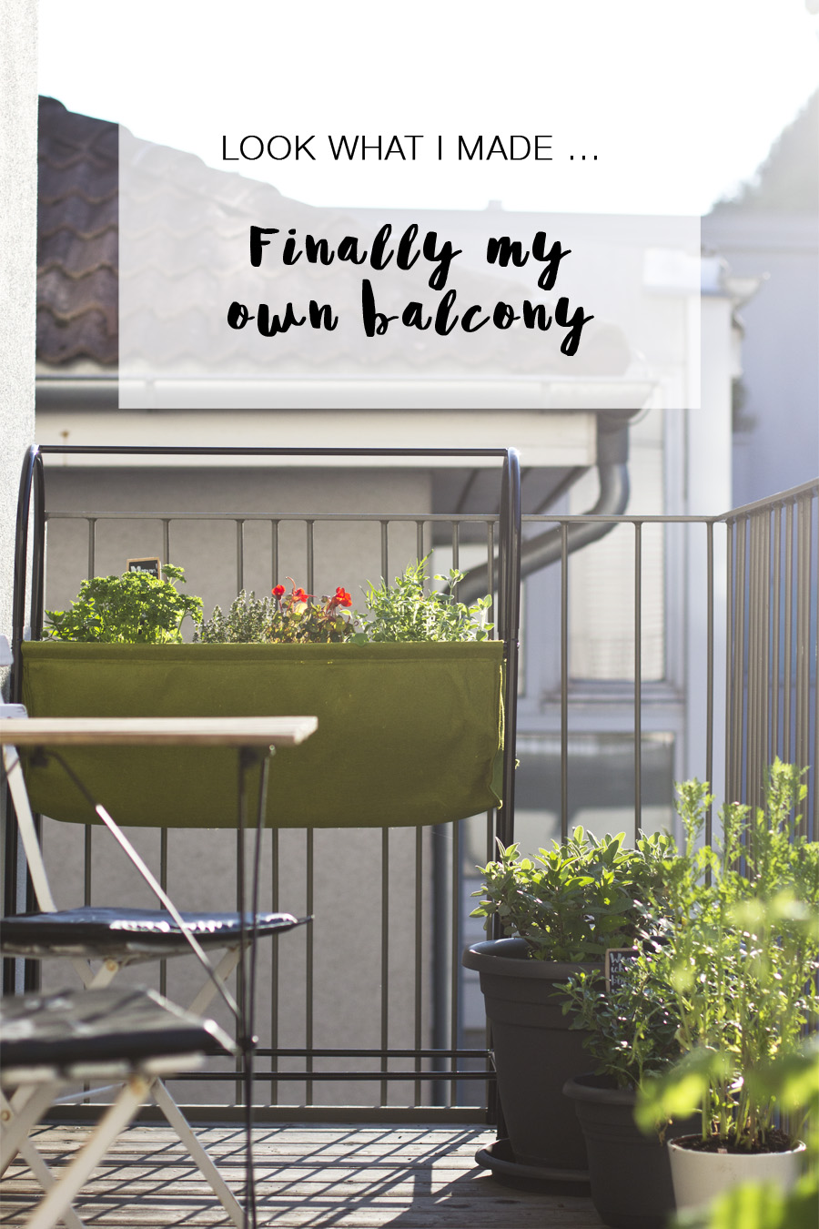 Grow your own herb garden on the balcony | LOOK WHAT I MADE ...
