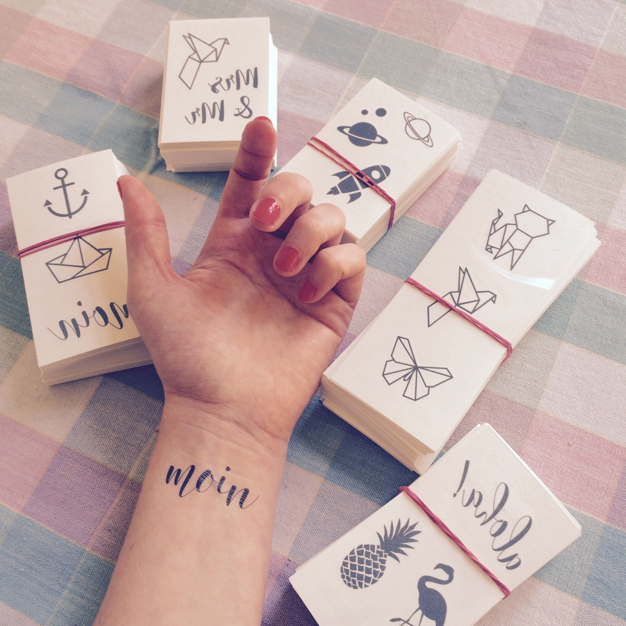 LOOK WHO MADE IT: Janine Schmidt, designer of temporary tattoos and founder of FONRY