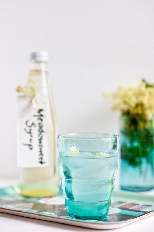 Homemade-meadowsweet-syrup