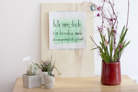 Love-themed faux watercolor calligraphy | LOOK WHAT I MADE ...