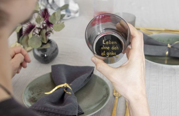 Valentine's Day DIY: Hidden love message in drinking glass