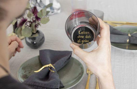 Valentine's Day DIY: Hidden love message in drinking glass