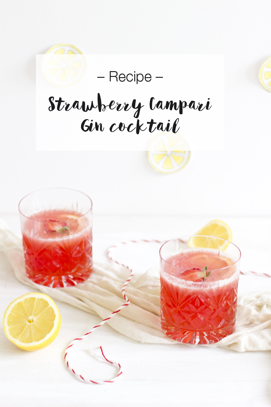 Strawberry campari gin cocktail recipe | LOOK WHAT I MADE ...