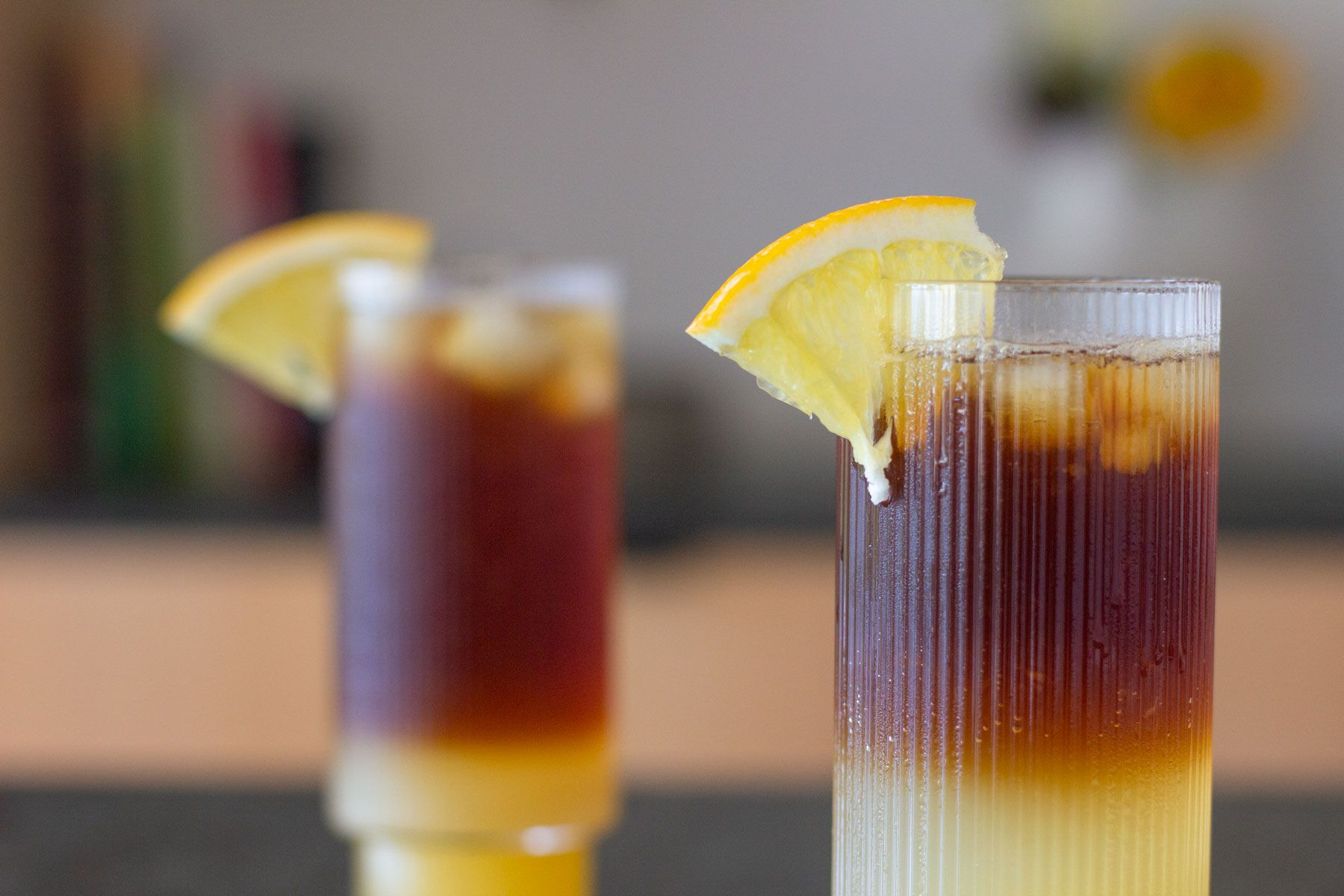 Coffee orange mocktail