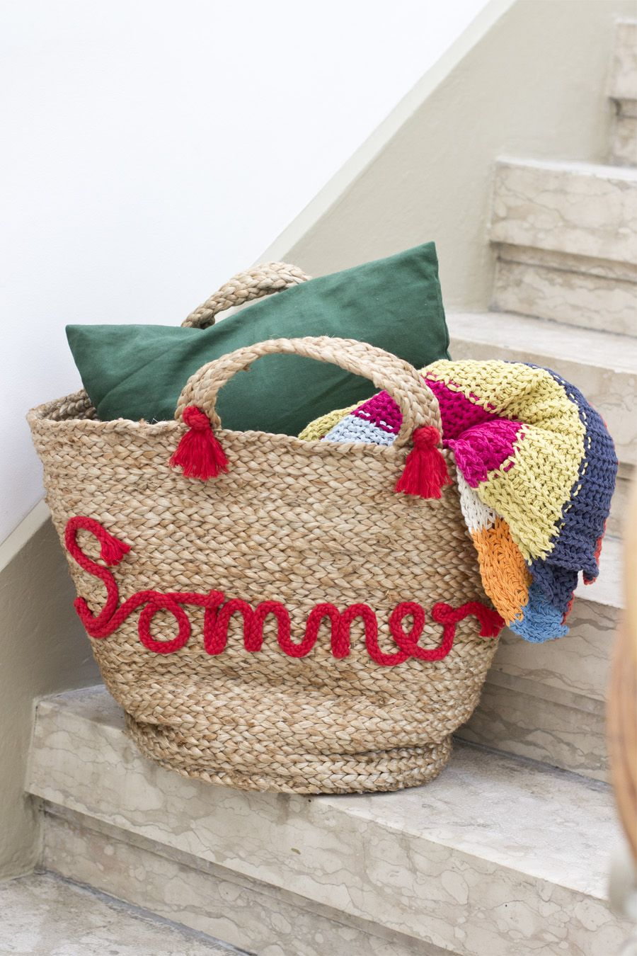 DIY embroidered beach bag | LOOK WHAT I MADE ...
