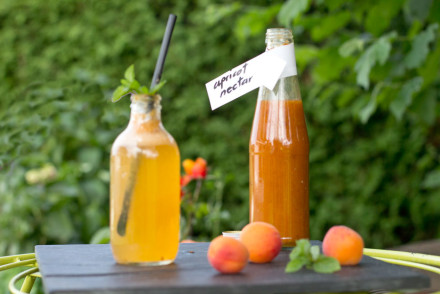 Homemade apricot nectar with cold soda makes the best refreshing summer drink | recipe on the blog