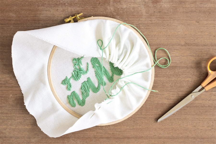 embroidery back DIY tutorial | LOOK WHAT I MADE ...