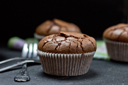 chocolate brownie muffin with walnuts recipe