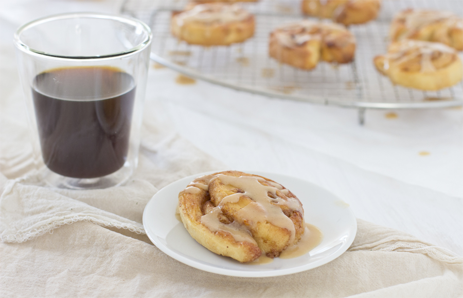 Cinnamon rolls with Espresso glazing recipe | LOOK WHAT I MADE ...