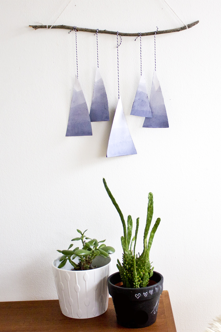 blue mountain paper mobile DIY | LOOK WHAT I MADE ...