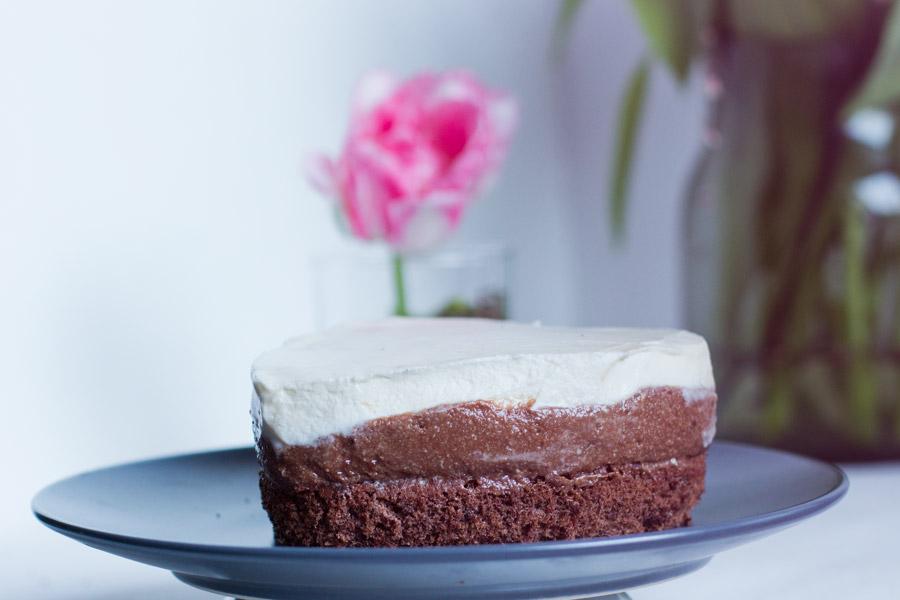 Caramel and chocolate mousse cake recipe