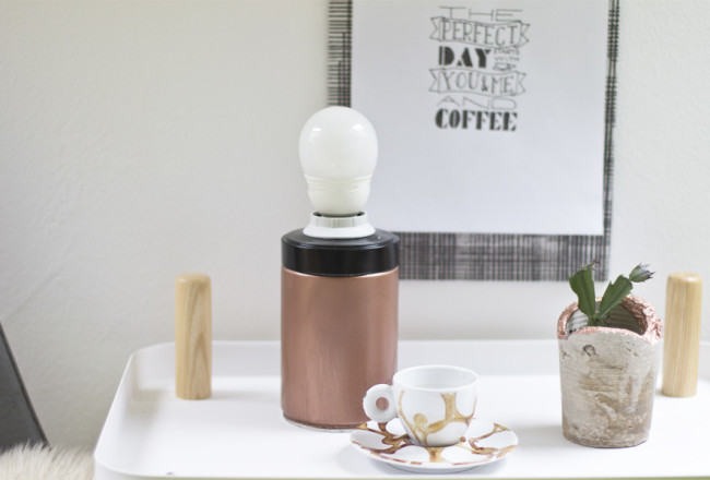 Coffee tin lamp DIY | LOOK WHAT I MADE ...