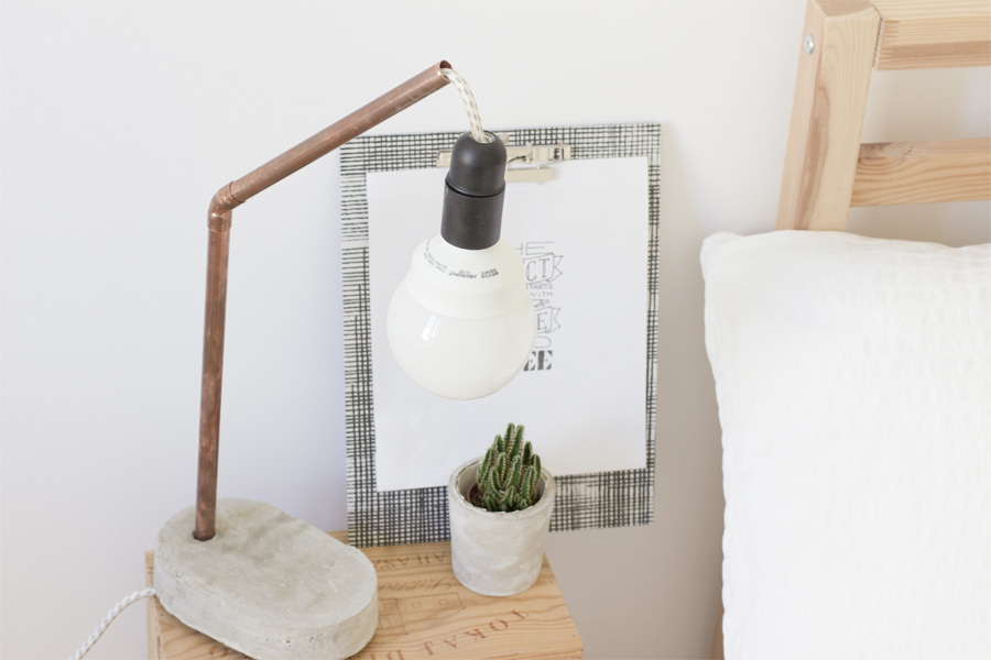 Concrete and copper lamp | LOOK WHAT I MADE ...