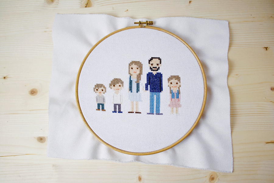 Interview with Kathie Burchard the cross stitch portrait maker | LOOK WHAT I MADE ...