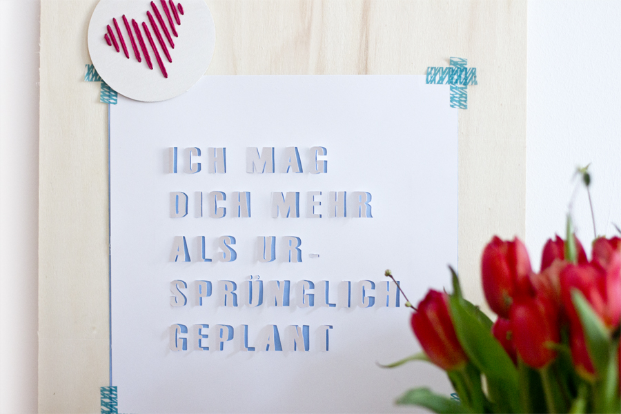 3D typography love quote art DIY | LOOK WHAT I MADE ...