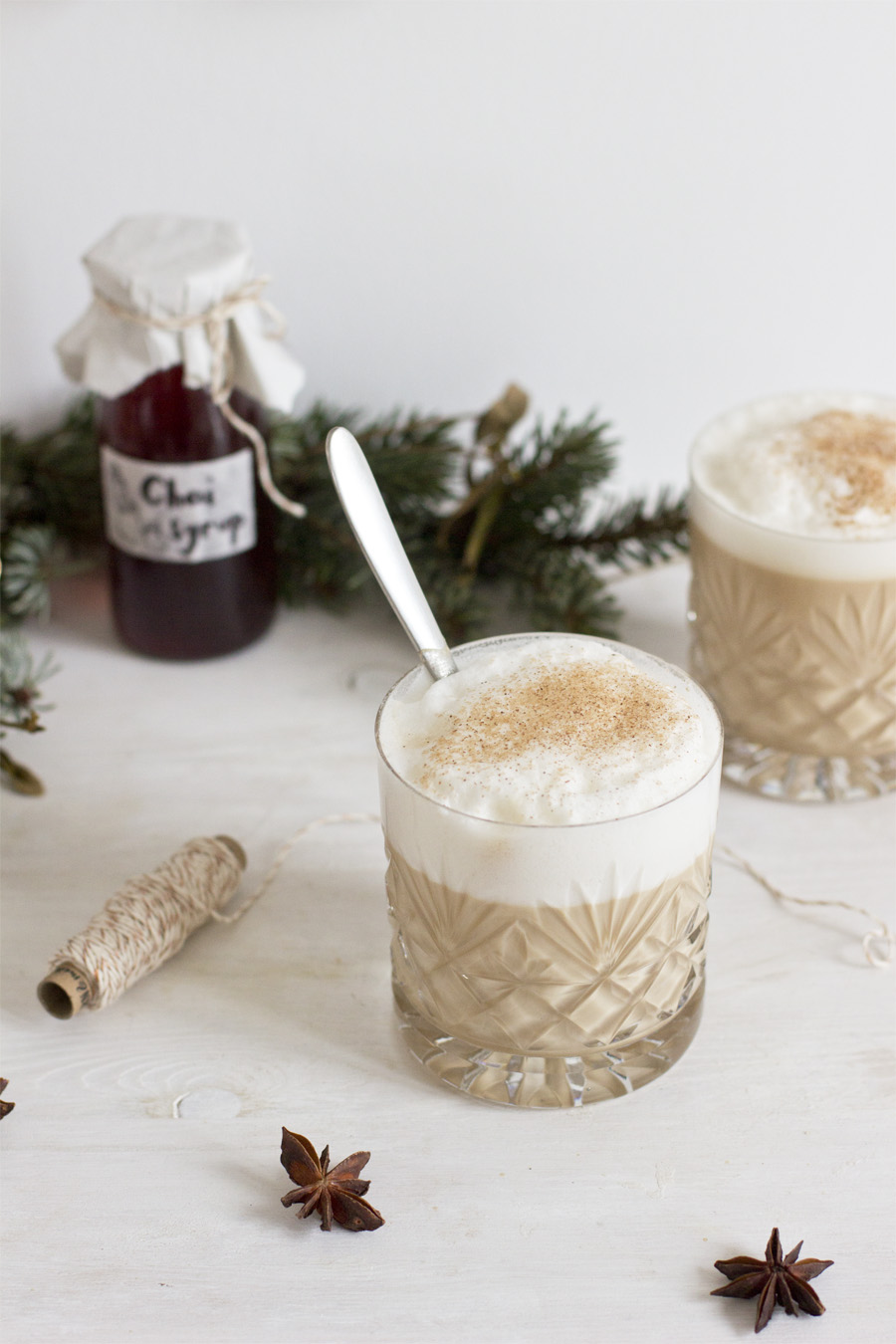 Dirty chai (with homemade chai syrup)   LOOK WHAT I MADE ...