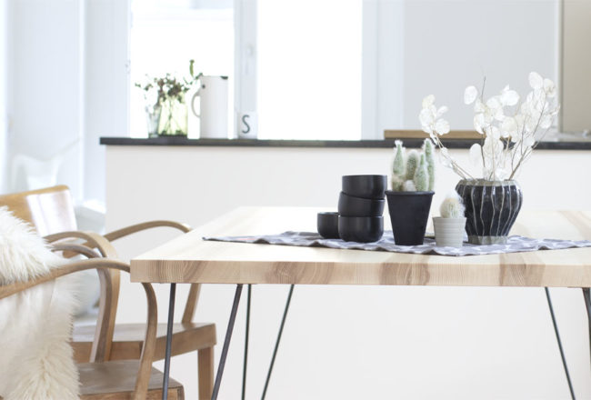 DIY hairpin wood dinner table | LOOK WHAT I MADE ...