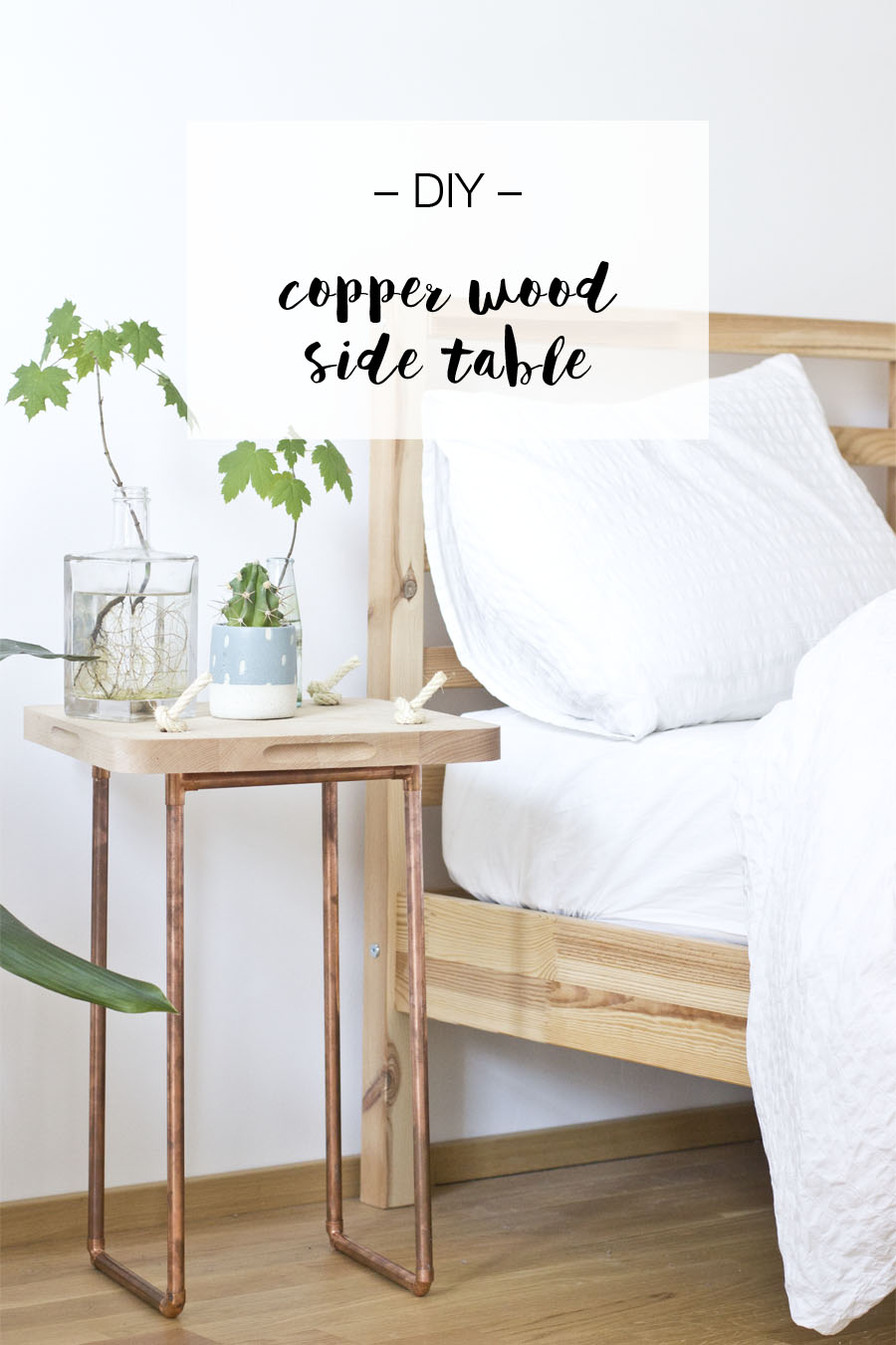 Copper wood side table DIY | LOOK WHAT I MADE ...
