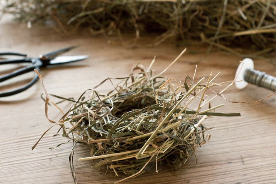 diy easter hay nest tutorial